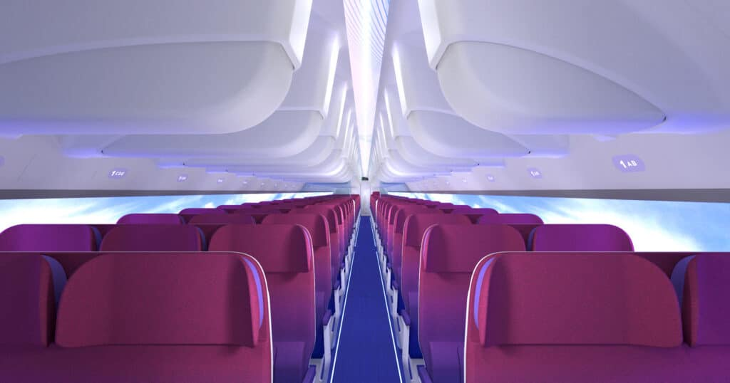 RATIOS, the future of Airplane cabins - cabin full