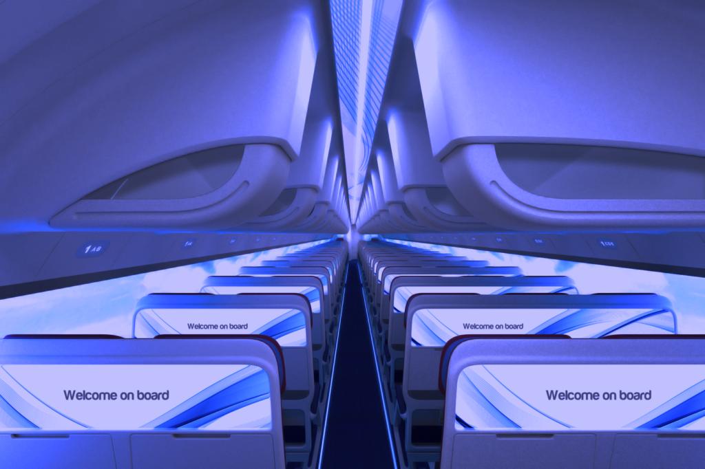 RATIOS, the future of Airplane cabins - corridoio1 crusing