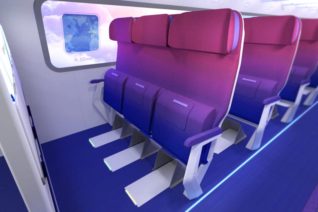 RATIOS, the future of Airplane cabins - seat e vw