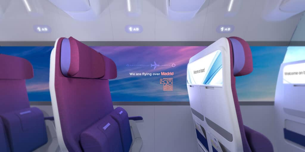 RATIOS, the future of Airplane cabins - window